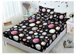 Set husa de pat din finet + 2 fete de perna pentru saltea de 180x200cm HPF161