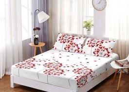 Set husa de pat din finet + 2 fete de perna pentru saltea de 160x200cm HPF22