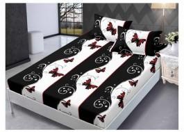 Set husa de pat din finet + 2 fete de perna pentru saltea de 160x200cm HPF220