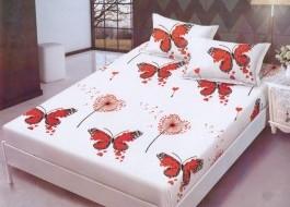 Set husa de pat din finet + 2 fete de perna pentru saltea de 160x200cm HPF233