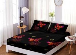 Set husa de pat din finet + 2 fete de perna pentru saltea de 160x200cm HPF245