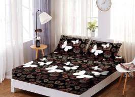 Set husa de pat din finet + 2 fete de perna pentru saltea de 160x200cm HPF25
