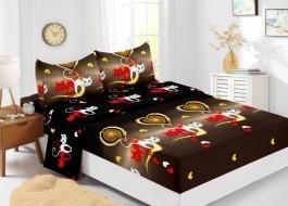 Set husa de pat din finet + 2 fete de perna pentru saltea de 160x200cm HPF303