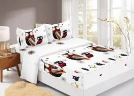 Set husa de pat din finet + 2 fete de perna pentru saltea de 160x200cm HPF304