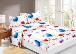 Set husa de pat din finet + 2 fete de perna pentru saltea de 160x200cm HPF306