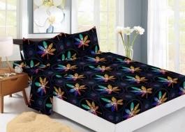 Set husa de pat din finet + 2 fete de perna pentru saltea de 160x200cm HPF309