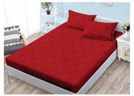 Set husa de pat din finet + 2 fete de perna pentru saltea de 160x200cm HPF46