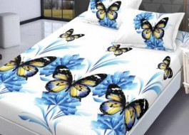 Set husa de pat din finet + 2 fete de perna pentru saltea de 160x200cm HPF52