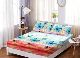 Set husa de pat din finet + 2 fete de perna pentru saltea de 180x200cm HPF110