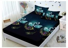 Set husa de pat din finet + 2 fete de perna pentru saltea de 180x200cm HPF112