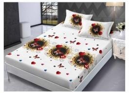 Set husa de pat din finet + 2 fete de perna pentru saltea de 180x200cm HPF214