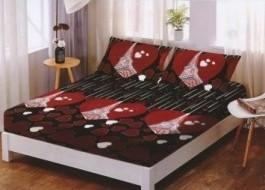 Set husa de pat din finet + 2 fete de perna pentru saltea de 180x200cm HPF253