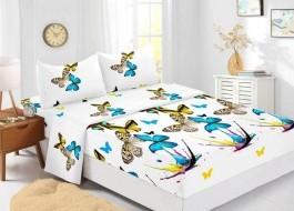 Set husa de pat din finet + 2 fete de perna pentru saltea de 180x200cm HPF331