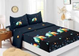 Set husa de pat din finet + 2 fete de perna pentru saltea de 180x200cm HPF332