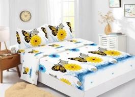Set husa de pat din finet + 2 fete de perna pentru saltea de 180x200cm HPF335
