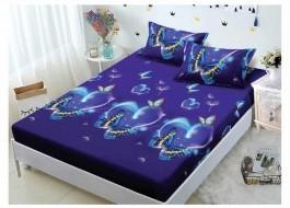 Set husa de pat din finet + 2 fete de perna pentru saltea de 180x200cm HPF50