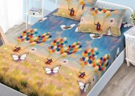Set husa de pat din finet + 2 fete de perna pentru saltea de 180x200cm HPF62