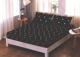 Set husa de pat din finet + 2 fete de perna pentru saltea de 180x200cm HPF81