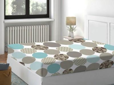 Cearceaf de pat cu elastic bumbac 100%,140x200cm, Pacific