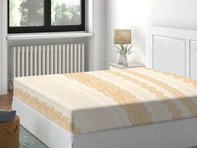 Cearceaf de pat cu elastic bumbac 100%,180x200cm, Dantel Crem