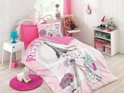 Cottonbox - Lenjerie pat 1 persoana bumbac 100 ranforce Best Friend - Pink