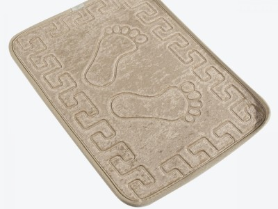 Covoras baie 40x60 cm, Alessia Home, Footprint - Beige