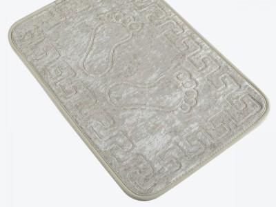 Covoras baie 40x60 cm, Alessia Home, Footprint - Ecru