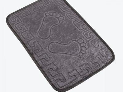 Covoras baie 40x60 cm, Alessia Home, Footprint - Fume
