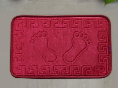 Covoras baie 40x60 cm, Alessia Home, Footprint - Rosu