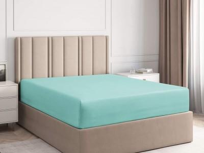 Husa de pat din damasc pentru saltea de 160x200cm Verde Menta