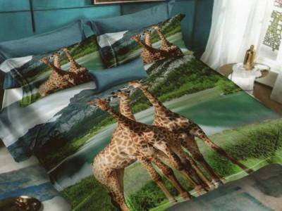 Lenjerie 3D finet 6 piese, Pucioasa, Girafe FN3D61