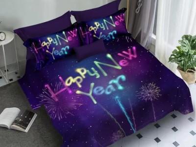 Lenjerie Craciun 3D finet 6 piese, Happy New Year V1