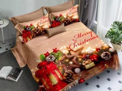 Lenjerie Craciun 3D finet 6 piese, Merry Christmas V1