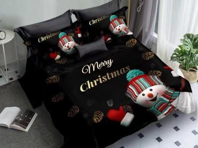 Lenjerie Craciun 3D finet 6 piese, Merry Christmas