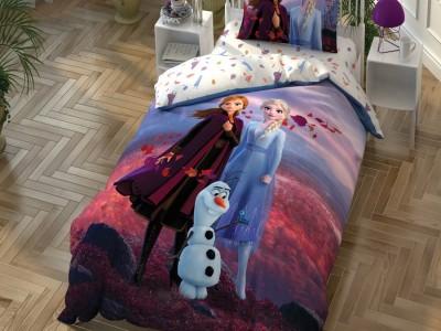 Lenjerie de pat copii,TAC Disney, 3 piese, Frozen Autumn