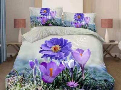 Oferta 1+1gratis: Lenjerie de pat 3D digital print, Ralex Pucioasa, Flower Garden