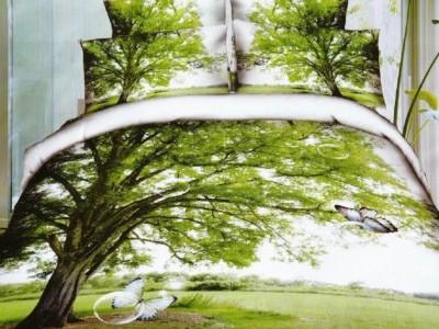 Oferta 1+1gratis: Lenjerie de pat 3D digital print, Ralex Pucioasa, Tree