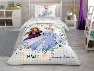 Lenjerie de pat copii,TAC Disney, 3 piese, Frozen Magic of Friendship