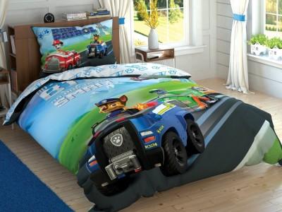 Lenjerie de pat copii,TAC Disney, 3 piese, Paw Patrol Team