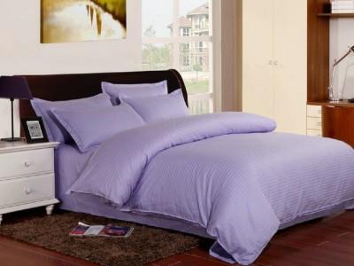 Lenjerie de pat damasc gros cu elastic ptr saltea de 140x200cm, culoarea Lila Deschis