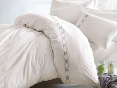 Lenjerie de pat de lux cu broderie, Cotton Box, Ramens