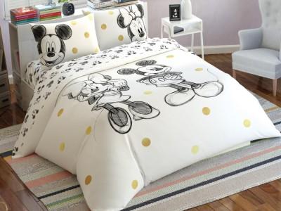 Lenjerie de pat dublu Tac Disney Minnie & Mickey Glitter