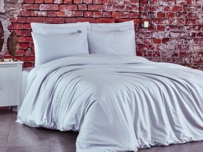 Lenjerie de pat premium satin de lux, Club Cotton, Stripe Gri