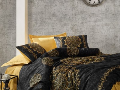 Lenjerie de pat premium satin de lux, Cotton Box, Alvina Gold