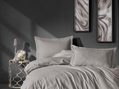 Lenjerie de pat premium satin de lux, Cotton Box, Elegant Beige