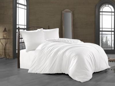 Lenjerie de pat satin de lux 6 piese, Class Home Colection, Alb