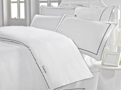 Lenjerie de pat de lux cu broderie, Cotton Box, Mahur