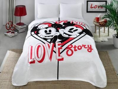 Patura de lux Tac 220x240cm, TAC  Disney Minnie si Mickey, Lovestory