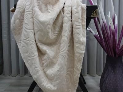 Patura embosata 200x220cm, Monk Cappuccino Floral 516