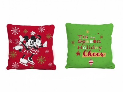 Pernuta decorativa 40x40cm, Tac Disney, Mickey and Minnie Happy New Year